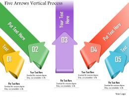 0914 Business Plan Five Arrows Vertical Process Powerpoint Template