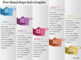 0914 Business Plan Five Hand Steps Info Graphic Powerpoint Presentation Template
