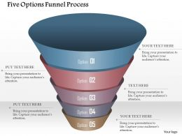 0914 Business Plan Five Options Funnel Process Powerpoint Template