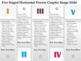 0914 Business Plan Five Staged Horizontal Process Graphic Image Slide Powerpoint Template