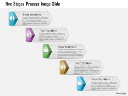 0914 Business Plan Five Stages Process Image Slide Powerpoint Presentation Template