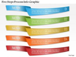 0914 Business Plan Five Steps Process Info Graphic Powerpoint Template