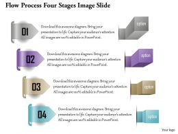 0914 Business Plan Flow Process Four Stages Image Slide Powerpoint Presentation Template
