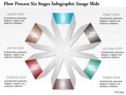 0914 Business Plan Flow Process Six Stages Infographic Image Slide Powerpoint Template