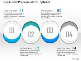 0914 Business Plan Four Linear Process Colorful Spheres Powerpoint Presentation Template