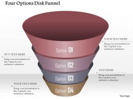 0914 Business Plan Four Options Disk Funnel Powerpoint Template