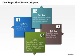0914 Business Plan Four Stages Flow Process Diagram Image Slide Powerpoint Template