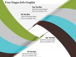 0914 Business Plan Four Stages Info Graphic Powerpoint Template