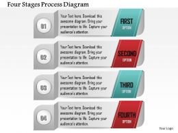 0914 Business Plan Four Stages Process Diagram Image Slide Powerpoint Template