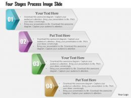 0914 Business Plan Four Stages Process Image Slide Powerpoint Presentation Template