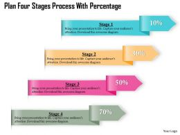 0914 Business Plan Four Stages Process With Percentage Image Slide Powerpoint Template