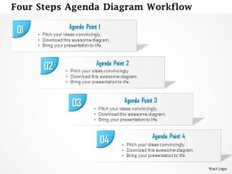 0914 Business Plan Four Steps Agenda Diagram Workflow Powerpoint Presentation Template