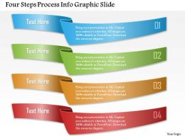0914 Business Plan Four Steps Process Info Graphic Slide Powerpoint Template