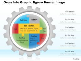 0914 Business Plan Gears Info Graphic Jigsaw Banner Image Powerpoint Template