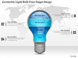0914 Business Plan Geometric Light Bulb Four Stages Image Powerpoint Template