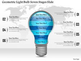 0914 Business Plan Geometric Light Bulb Seven Stages Slide Powerpoint Template