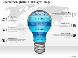 0914 Business Plan Geometric Light Bulb Six Stages Image Powerpoint Template