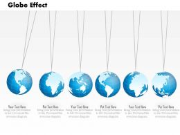 0914 Business Plan Global Effect Concept Globes Hanging PowerPoint Presentation Template
