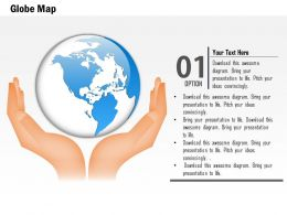 0914 Business Plan Globe In Hands For Global Protection PowerPoint Presentation Template