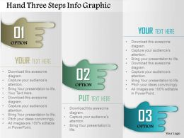 0914 Business Plan Hand Three Steps Info Graphic Powerpoint Presentation Template