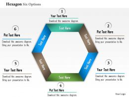 0914 Business Plan Hexagon Six Options Info Graphic Powerpoint Presentation Template