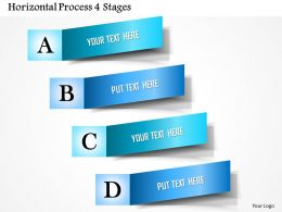 0914 Business Plan Horizontal Process 4 Stages Powerpoint Presentation Template