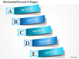 0914 Business Plan Horizontal Process 5 Stages Powerpoint Presentation Template