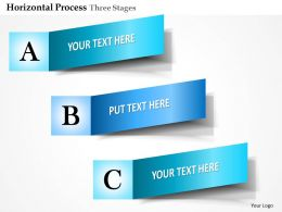 0914 Business Plan Horizontal Process Three Stages Info Graphic Powerpoint Presentation Template