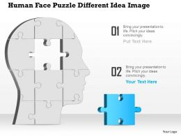 0914 Business Plan Human Face Puzzle Different Idea Image Powerpoint Template