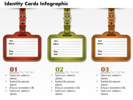 0914 Business Plan Identity Cards Infographic Image Slide Powerpoint Template