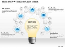 0914 Business Plan Light Bulb With Icons Gears Vision Image Slide Powerpoint Template