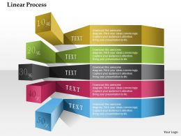 0914 Business Plan Linear Process Colorful Percentage Powerpoint Presentation Template
