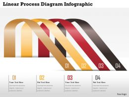 0914 Business Plan Linear Process Diagram Infographic Image Slide Powerpoint Template
