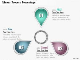 0914 Business Plan Linear Process Percentage Powerpoint Presentation Template