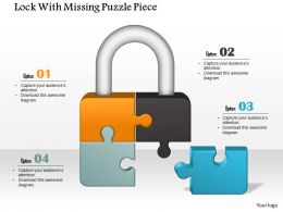 0914 Business Plan Lock With Missing Puzzle Piece Powerpoint Template