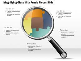 0914 Business Plan Magnifying Glass With Puzzle Pieces Slide Powerpoint Template