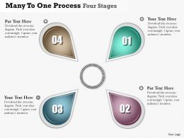 0914 Business Plan Many To One Process Four Stages Powerpoint Presentation Template