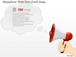 0914 Business Plan Megaphone With Text Cloud Image Slide Powerpoint Template