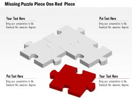 0914 Business Plan Missing Puzzle Piece One Red Piece Image Slide Powerpoint Template