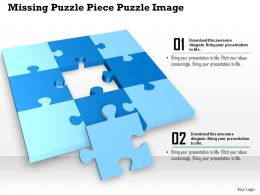 0914 Business Plan Missing Puzzle Piece Puzzle Image Slide Powerpoint Template