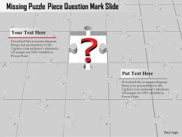 0914 Business Plan Missing Puzzle Piece Question Mark Slide Powerpoint Template