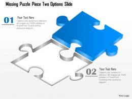 0914 Business Plan Missing Puzzle Piece Two Options Slide Powerpoint Template