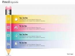 0914 Business Plan New Pencil Diagram Agenda Powerpoint Presentation Template