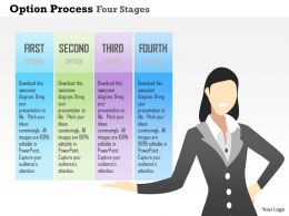 0914 Business Plan Option Process Four Stages Powerpoint Presentation Template