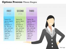 0914 Business Plan Options Process Three Stages Powerpoint Presentation Template
