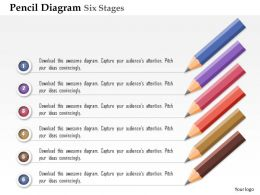 0914 Business Plan Pencil Diagram Six Stages Agenda Info Graphic Powerpoint Presentation Template
