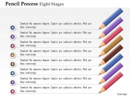 0914 Business Plan Pencil Process Eight Stages Agenda Powerpoint Presentation Template