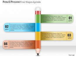 0914 Business Plan Pencil Process Four Stages Agenda Powerpoint Presentation Template
