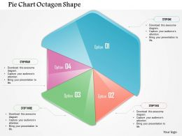 0914 Business Plan Pie Chart Octagon Shape Powerpoint Template