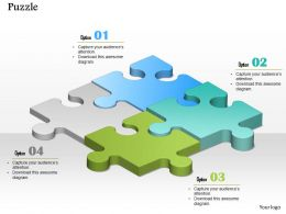 0914 Business Plan Puzzle Pieces Connected Graphic Image Slide Powerpoint Template